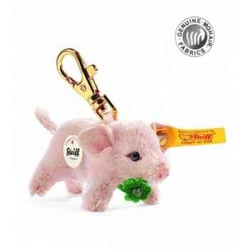 Peluche steiff porte-clés porcelet porte-bonheur, rose -033292