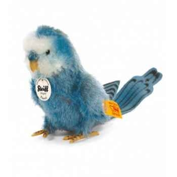 Peluche steiff perruche franzi, bleue -033339