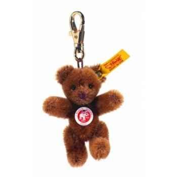 Peluche steiff porte-clés ours teddy mini, rouge brun -039003