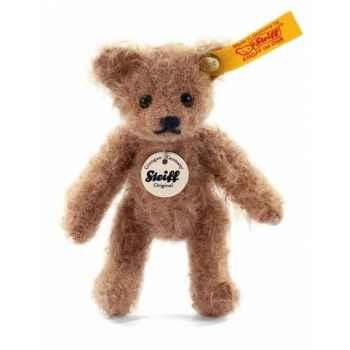 Peluche steiff ours teddy mini, café au lait -039584