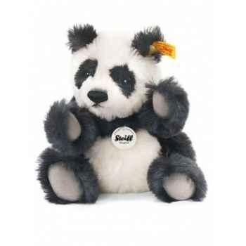 Peluche steiff ours teddy classique panda, noir/blanc -039645