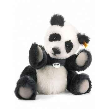 Peluche steiff ours teddy classique panda, noir/blanc -039690