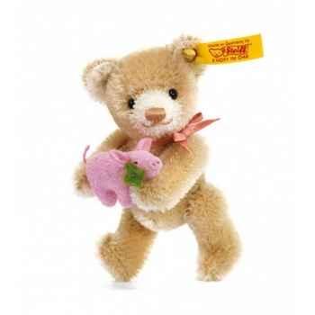 Peluche steiff ours teddy miniature porte-bonheur, beige -039836