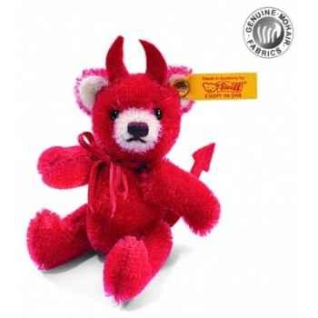 Peluche steiff ours teddy miniature diablotin, rouge -039843