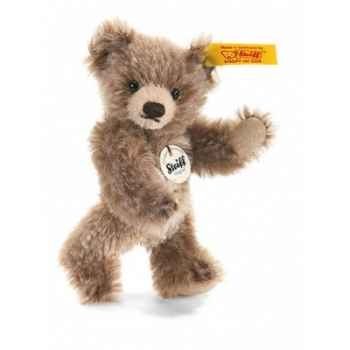 Peluche steiff ours teddy miniature, brun chiné -040023