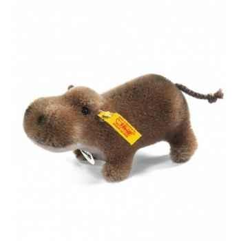 Peluche steiff hippopotame mocky, caramel -041143