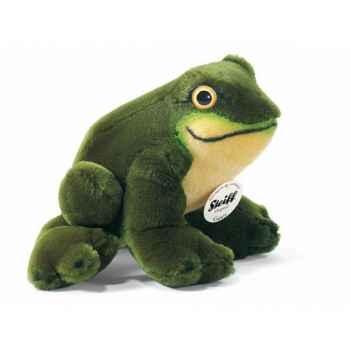 Peluche steiff grenouille cappy, verte -056345