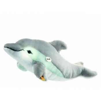 Peluche steiff dauphin cappy, gris/blanc -063183