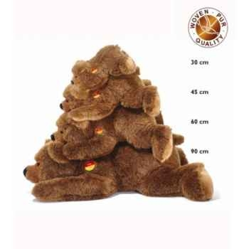 Peluche steiff ours brun urs, brun chiné -070020