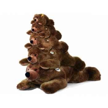 Peluche steiff ours brun urs, brun chiné -070037