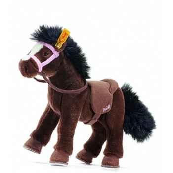 Peluche steiff cheval et accessoires, brun foncé -070341