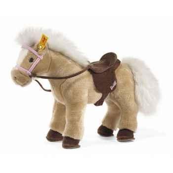 Peluche steiff cheval et accessoires, froment -070358