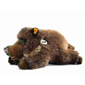 Peluche steiff sanglier wutzi, brun chiné -072291