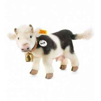 Peluche steiff vache luise, noire/blanche -072833