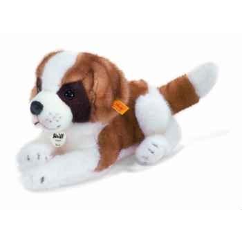 Peluche steiff saint bernard chiot benny, blanc brun -083754
