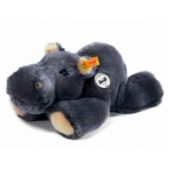 Peluche steiff hippopotame mocky, gris -085499