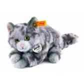 peluche steiff chat kitty gris mouchete 099397