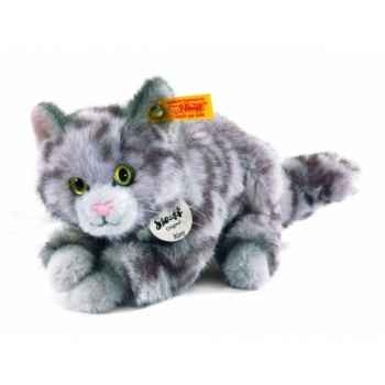 Peluche steiff chat kitty, gris moucheté -099397