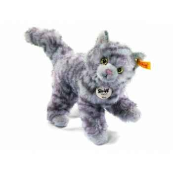 Peluche steiff chat kitty, gris moucheté -099410