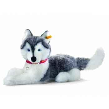 Peluche steiff husky bernie, gris/blanc -104954