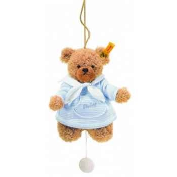 Peluche steiff ours dors bien avec boîte à musique, bleu -237027