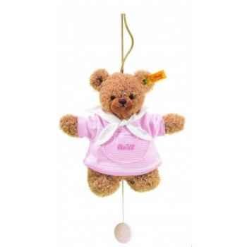 Peluche steiff ours dors bien avec boîte à musique, rose -237126