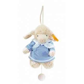 Peluche steiff agneau fais de beaux rêves avec boîte à musiquex, bleu -237324