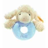 peluche steiff agneau fais de beaux reves anneau de prehension bleu 237355