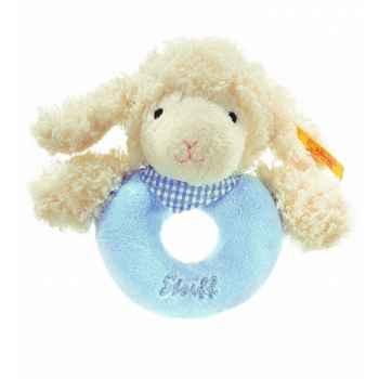 Peluche steiff agneau fais de beaux rêves anneau de préhension, bleu -237355