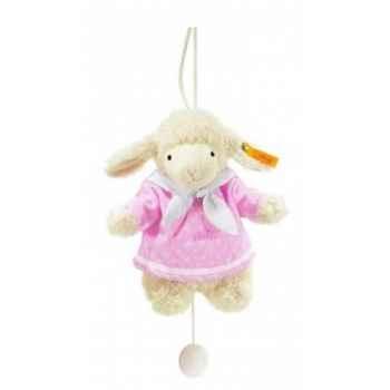 Peluche steiff agneau fais de beaux rêves avec boîte à musiquex, rose -237423