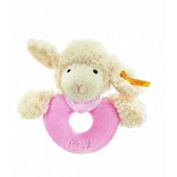 Peluche steiff agneau fais de beaux rêves anneau de préhension, rose -237454