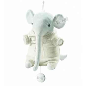 Peluche steiff selection éléphant avec boîte à musique, sable -239168