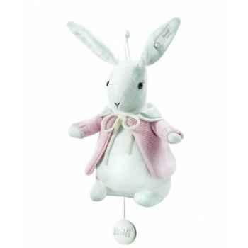 Peluche steiff selection lapin avec boîte à musique, rosé -239250