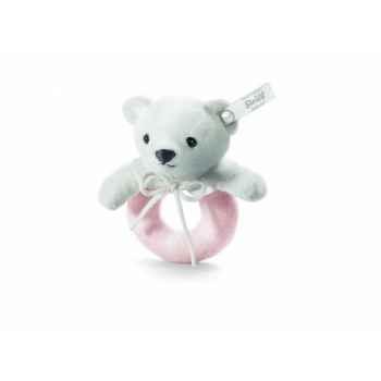 Peluche steiff selection ours teddy anneau de préhension, rosé -239311