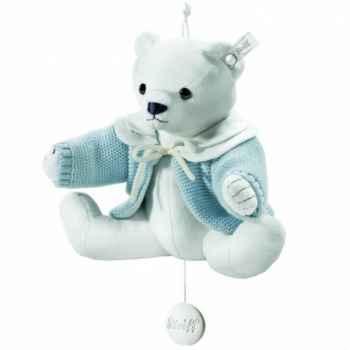 Peluche steiff selection ours teddy avec boîte à musique, bleu -239335