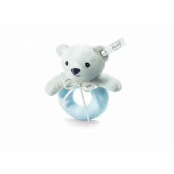 Peluche steiff selection ours teddy anneau de préhension, bleu -239359