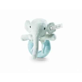 Peluche steiff selection éléphant anneau de préhension, bleu -239397