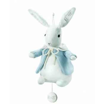 Peluche steiff selection lapin avec boîte à musique, bleu -239458