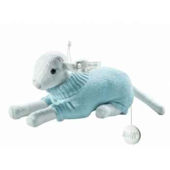 Peluche steiff selection agneau avec boîte à musique, bleu -239496
