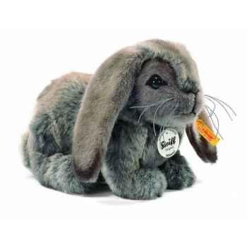 Peluche steiff lapin bélier mümmel, gris brun chiné -270109