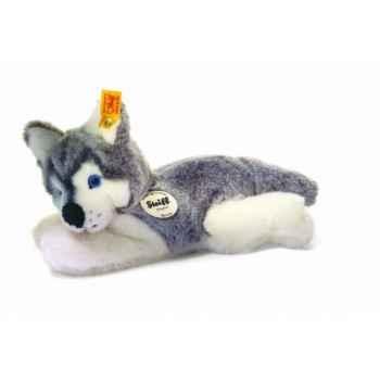 Peluche steiff le petit ami de steiff husky bernie, gris/blanc -280078