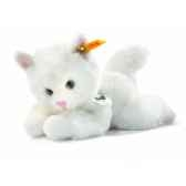 peluche steiff le petit ami de steiff chat lizzy blanc 280153