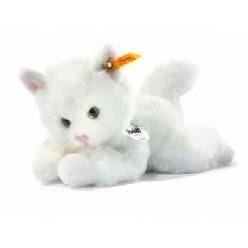 Peluche steiff le petit ami de steiff chat lizzy, blanc -280153
