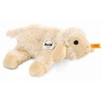 Peluche steiff petit floppy de steiff agneau linda, blanc laineux -281006