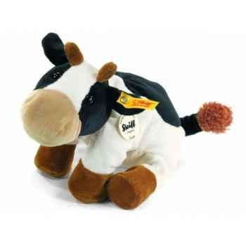 Peluche steiff petit floppy de steiff vache luise, noire/blanche mouchetée -281136