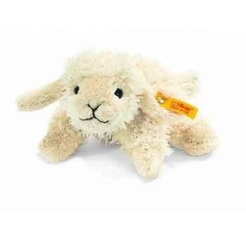 Peluche steiff floppy miniature de steiff agneau linda, blanc laineux -281303
