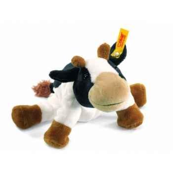 Peluche steiff floppy miniature de steiff vache luise, noire/blanche mouche -281426
