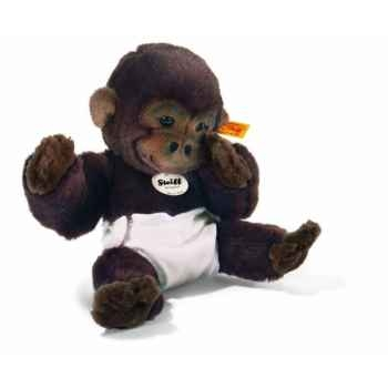 """Peluche steiff bébé gorille \"""" mary zwo \"""", brun foncé -345777"""