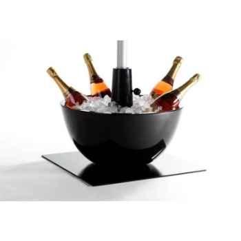 Pied de parasol sywawa socle coupe noir 40mm -coupe-40-black