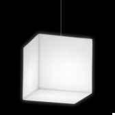 lampe design design sur piquet fiaccola cubo rouge lampe ip55 sd fcc131